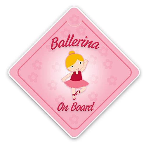 XCWQ Autosticker, 15 x 15 cm, waterbestendig, interessant, kleurrijk, hoogwaardig, ballerina, decoratie met afbeelding voor persoonlijkheid