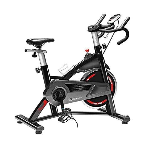 SAFGH Bicicletta da Interno stazionaria, Cyclette silenziosa Regolabile in casa, con Display Digitale LCD e Ruota Mobile, Facile da spostare, per Ufficio, Palestra