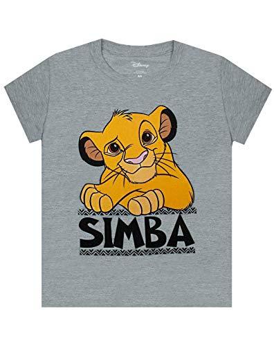 Lion King Disney Camiseta Simba Boys Top Gris Camiseta Casual de Manga Corta par 5-6 años