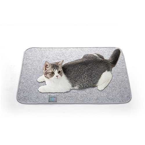 Luxear Hundematte waschbar gegen Geruch, Matte für Hunde Katzen mit stark Saugfähigkeit, Hundedecke rutschfest ungiftig, Trainingsunterlagen Matte Pads für Haustiere, 45×60cm