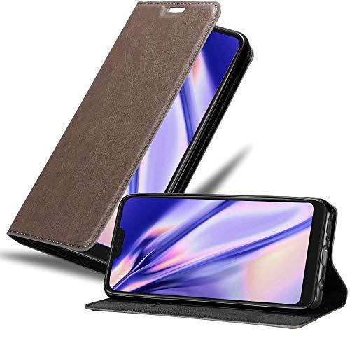 Cadorabo Funda Libro para Xiaomi Mi A2 Lite/RedMi 6 Pro en MARRÓN CAFÉ - Cubierta Proteccíon con Cierre Magnético, Tarjetero y Función de Suporte - Etui Case Cover Carcasa