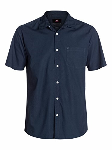 Quiksilver Everyday Solid Chemise manches courtes Homme Navy Blazer FR : S (Taille Fabricant : S)