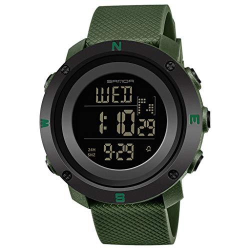 HHyyq Herren Sport Military Digital Big Datum Chronograph Analog Resin Armbanduhr Herren Sportuhr Dual Display Analog Digital Elektronische Uhr Paar Beobachten(F)