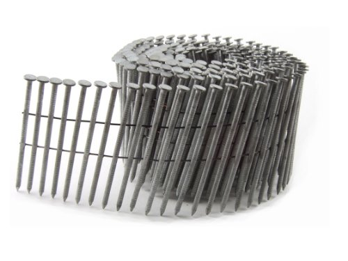 B&C Eagle 134X090HDRC Round Head 1-3/4-Inch x .090 x 15 Degree Hot Dip Galvanized Ring Shank Wire Collated Coil Framing Nails (5,400 per box)