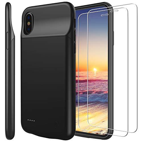 Funda Batería iPhone x, PEMOTech® Case Carcasa con Batería Cargador-batería Externa Recargable 3200mAh
