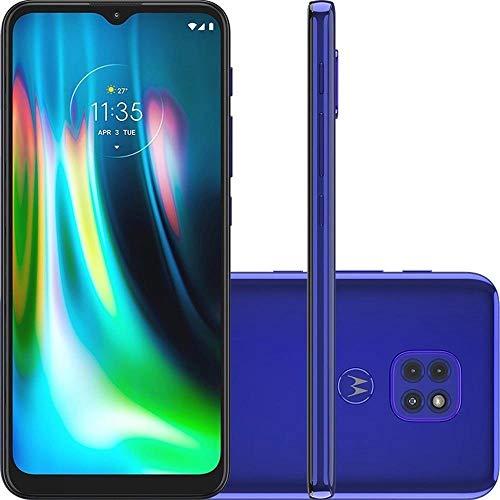 Smartphone Moto G9 Play Azul Safira, com Tela de 6,5, 4G, 64GB e Câmera de 48MP + 2MP + 2MP - XT2083-1'