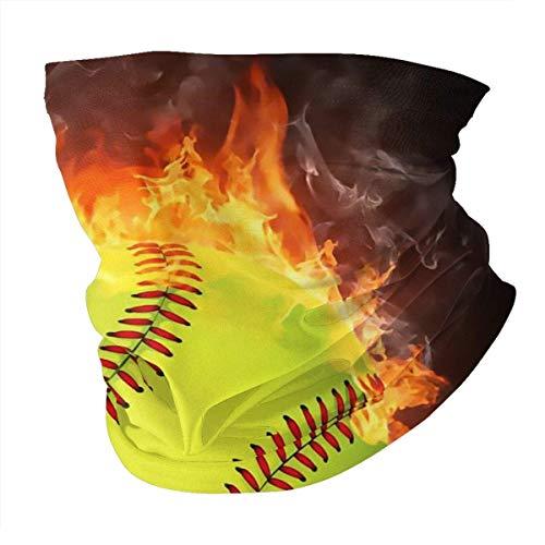 Fire for Softball Summer BandaFace Cover - Balaclava bufanda polvo sol protección UV cuello pesca polaina - para hombres y mujeres negro