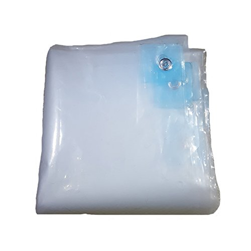 Yxsd Tarpaulin Thick Transparent Rain Cloth Balcony Window Waterproof and Dustproof (Size : 3x3m)
