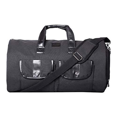 BondFree Multifunktion Tasche schlutertasche Anzugtasche Weekender für Business Reisen Urlaub Handgepäck Kleidersack Anzughülle Kleidertasche Anzüge mit Schuhfach Kleiderhülle (Stil2-Schwarz)