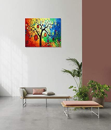 wojinbao DIY Digitale Malerei-Adult's Paint von Number Kits-Abstrakte Farbe Baum Laterne Paint von Numberson Canvas Geschenk für Erwachsene und Kinder Geburtstag Hochzeit(40x50cmKein Rahmen)