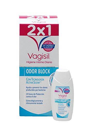 VAGISIL Gel de Higiene intima protección odor block - pack de 2 x 250ml - Total 500ml