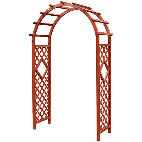 YFF-Corrimano Garden Arch, Wooden Pergola, Patio Trellis Arch Climbing Plants, for Roses Climbing Plants Support Structure Garden Decoration