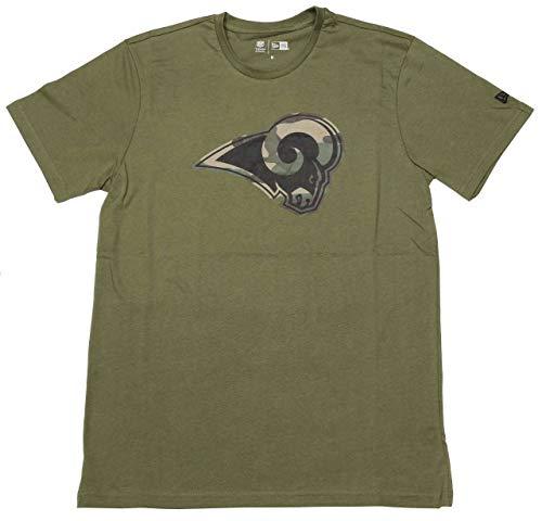 New Era Los Angeles Rams T Shirt Camo Logo Tee Olive - XXL