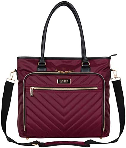 Kenneth Cole Reaction Chelsea Chevron 15 Laptop Tablet Business Tote W Removable Shoulder Strap product image