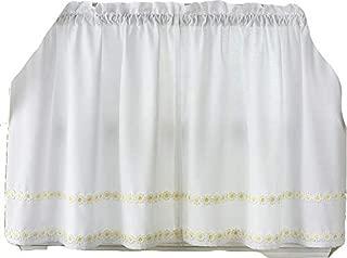 LORRAINE HOME FASHIONS Daisy Mae Window Curtain Tier Pair, 56