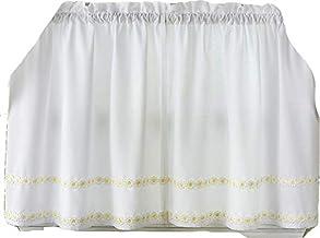زوج ستائر نافذة من Lorraine Home Fashions Daisy Mae مقاس 56 بوصة × 36 بوصة، أصفر