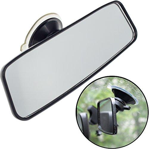 Smartfox Universal Innenspiegel Rückspiegel Sicherheitsspiegel Zusatzspiegel Fahrschulspiegel mit Saugnapfbefestigung für Auto Pkw Kfz Lkw
