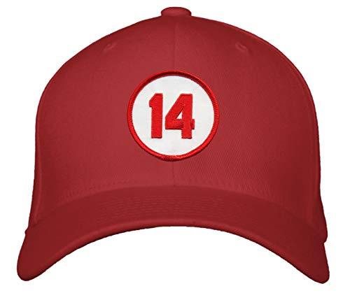 Pete Rose #14 Hat - Cincinnati Baseball Black Adjustable Cap (Red)