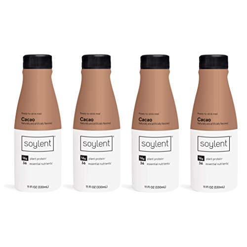 Soylent Meal Replacement Shake, Cacao Tetra Pack, 4 Pack