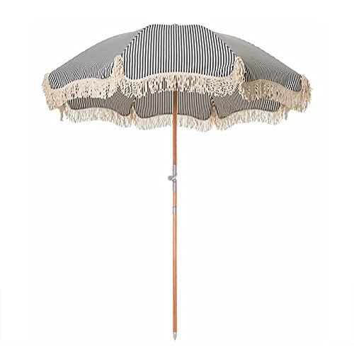 Ombrellone per il tempo libero ombrellone da esterno con frange ombrellone da spiaggia a righe, ombrellone da spiaggia: il miglior ombrellone da spiaggia antivento, con ombrellone sportivo portatile