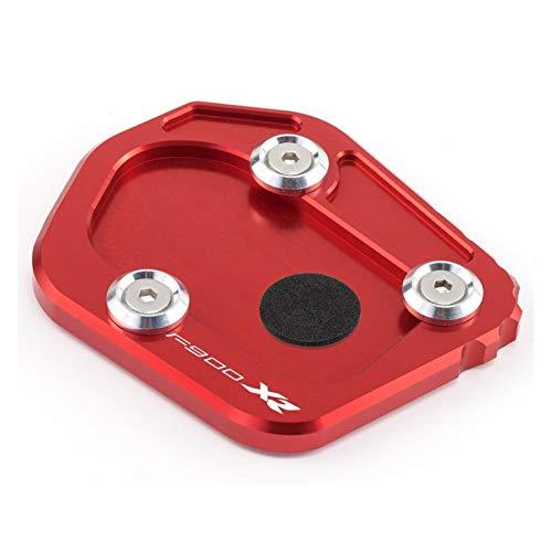 Soporte Lateral Extensión Pie Motocicleta CNC Pie Lateral Soporte Extensión Kickstand Pad Placa Ampliador Accesorios para F900XR 2020 2021 (Color : Red, Size : F900XR)
