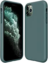 Kocuos iPhone 11 Pro Max Case Anti-Scratch & Fingerprint & Microfiber Liner Shock Absorption Gel Rubber Full Body Protection Liquid Silicone Case for iPhone 11 Pro Max 6.5 inch (Midnight Green)