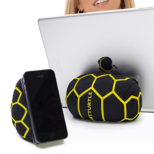 Smartturtle Multi-Functional iPad Stand – Made in Austria, Bean Bag for Smartphones, Mobile Phones, eReaders, Tablets, iPhone, iPad2, iPad3, Ipad4, the New iPad, iPad Air Samsung Note Galaxy For Bed, Sofa, Car Outlet - Yellow