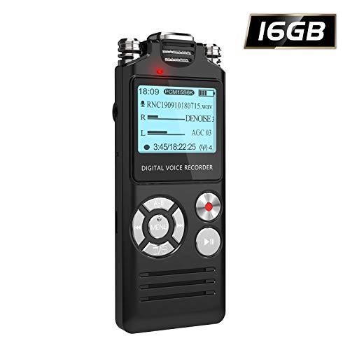 Digital Voice Recorder, HOMIEI 16 GB Voice Activate Recorder/ MP3 Player...