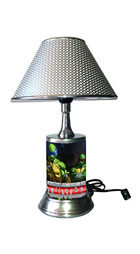JS Teenage Mutant Ninja Turtles Lamp with Shade, Mutants in Manhattan