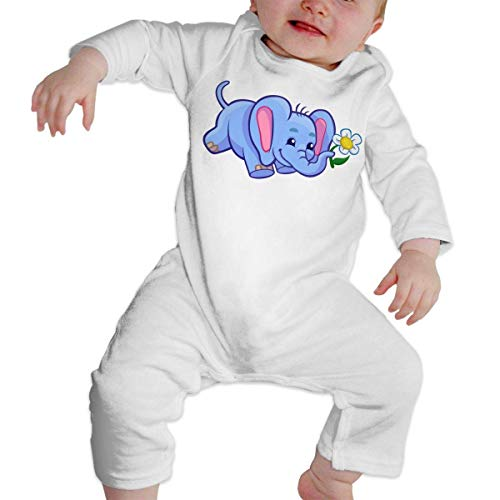 Moniery Elephant Sunflower Long Sleeve Romper Bodysuit for Baby Boy's
