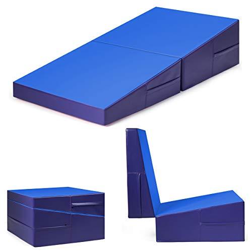 Giantex Incline Gymnastics Mat Wedge Folding and Non-Folding Gymnastics Gym Fitness Skill Shape...