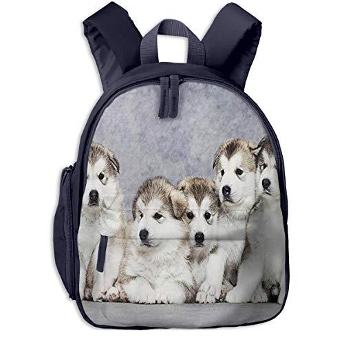 Mochila para Niños Cachorros de Alaskan Malamute 2, Mochila Escuela Primaria De Edad Peso Ligero Pérdida Mochila De Viaje para Chico Chica