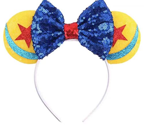 CLGIFT Toy Story Minnie Ears,Pick your color, Iridescent Minnie Ears, Silver gold blue minnie ears, Rainbow Sparkle Mouse Ears,Classic Red Sequin Minnie Ears (Toy Story-3d)