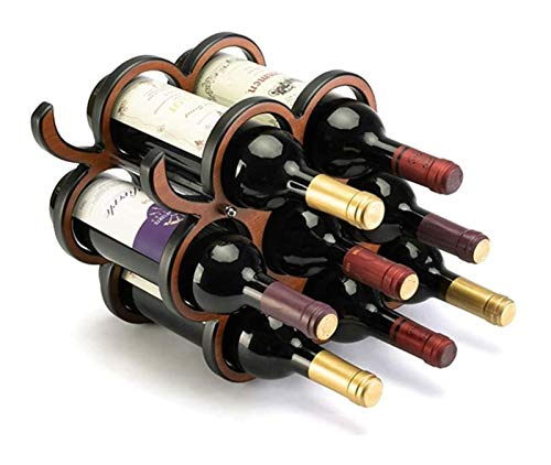 DZHTSWD Wine 8 Bottle Grapevine Wine Storage Organizador/Pantalla Estante (Color: Marrón, Tamaño: 28x17.5x40.3cm) Rack