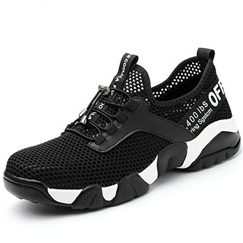 Arbeitsschuhe Herren Leicht Stahlkappe Damen Sicherheitsschuhe Kevlar Zwischensohle Atmungsaktiv Work Shoes