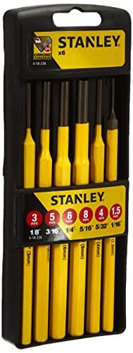 STANLEY 4-18-226 - Juego de botadores y punzones (6 piezas)