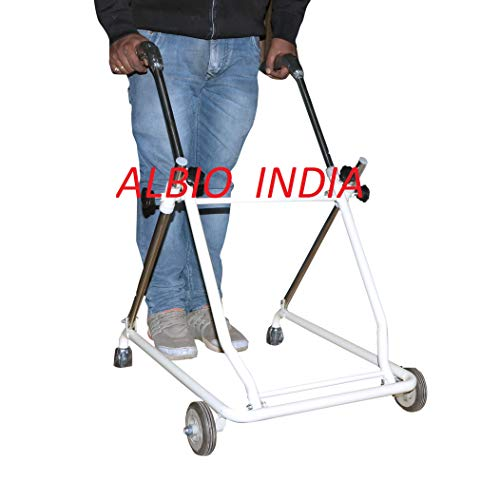 Albio CP Walker Rollator with front wheels Folding Height Adjustable for Childerns and Adults