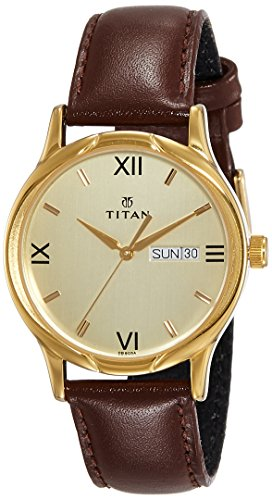 Titan Karishma Analog Champagne Dial Men's Watch -NK1580YL05