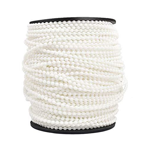 GCDN 100 m Raffrollo-Perlenkette aus Kunststoff, schneidbar, 4 x 6 mm für Rollo-Montage
