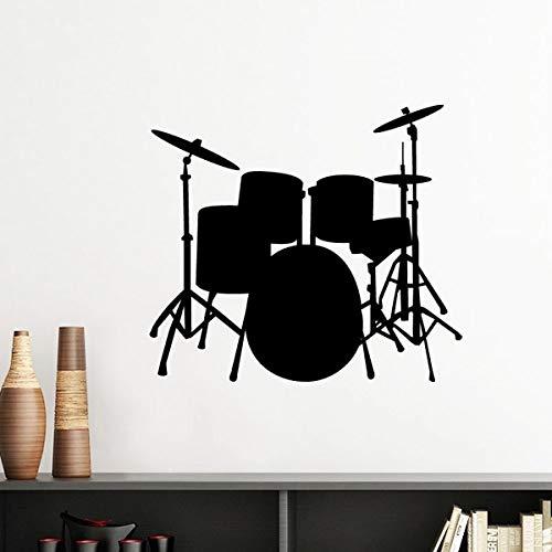 DIY thinker liedset met batterij, muziek silhouetetiket, rubber, afneembaar van de muur van de behangmuur, voor knutselwerk 60Cm Lichtgeel