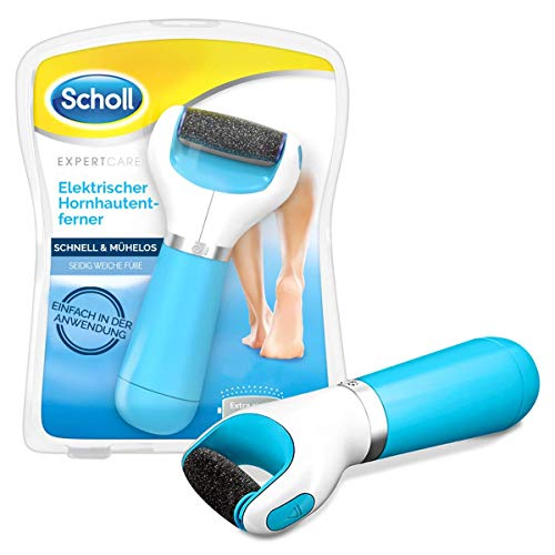 Scholl Expert Care, Seidig weiche Füße, elektrischer Hornhautentferner schnell & Mühelos (mit Meeresmineralien Rolle für präzise Ergebnisse, 1 Gerät inkl. Ersatzrolle)