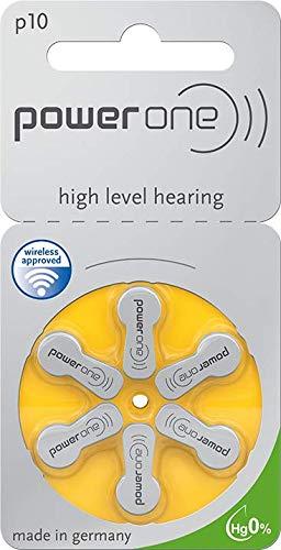 10 Blister - 60 Stück von Varta Powerone Typ 10 Hörgerätebatterie Zinc Air P10 PR70 ZL4 mit 2 Stück LUXTOR® Reinigungstücher für Hörgeräte und Otoplastiken