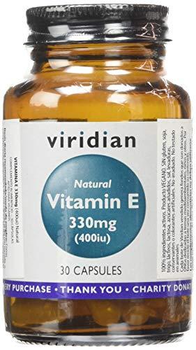 Viridian Natural Vitamin E 400IU, 30 Vegetarian Capsules