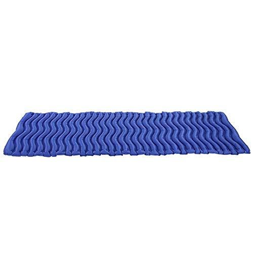 Naroote Aufblasbare Isomatte im Freien, faltende Luftmatratze Schlafenauflagen Bettmatten im Freien(Zartes Meeresblau)