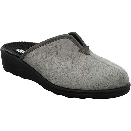 Westland Josef Seibel Nice 82 - Zapatillas para mujer (anchas), color Gris, talla 38 EU Weit