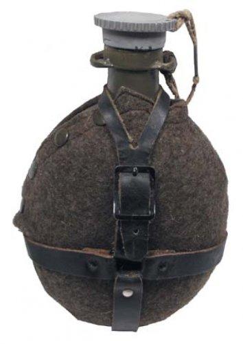 CZ/SK Feldflasche, M 60, Aluminium, Filzbezug, neuw.