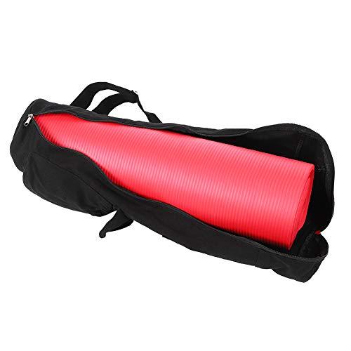 DFKEA Bolsa de Esterilla de Yoga - Mochila Multifuncional de Lona Negra para Esterilla de Yoga Bolsa de Almacenamiento con Correa Ajustable