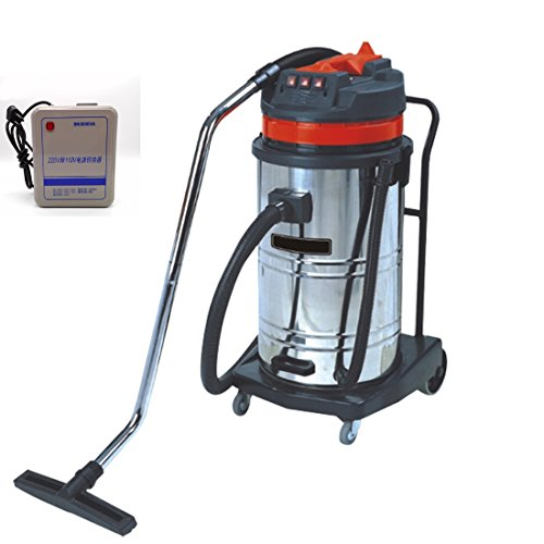 Wotefusi Industrial New 110V 3000W 80L Commercial Floor Dust Water Suction Vacuum Cleaner Red