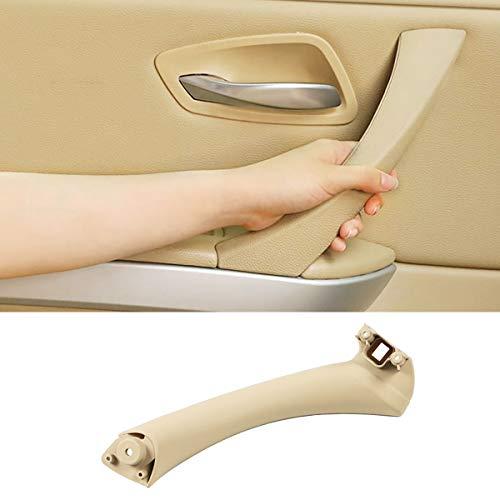 Jaronx Left Side Door Pull Handle for BMW 3 Series E90/E91, Left Rear Door Handle Inner Part Door Support Bracket Door Panel Handle (Fits:BMW 323 325 328 330 335 2004-2012)(Beige)