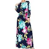 Janette Fashion Flower Bomb Long Bell Sleeve Maxi Evening Dress